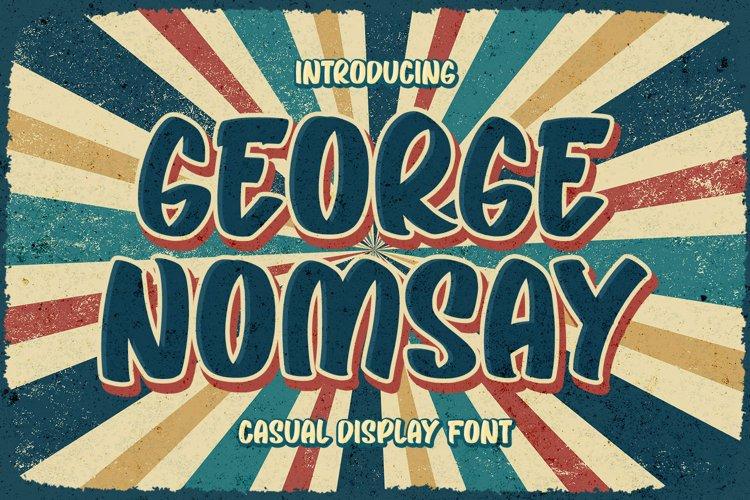Retro Display Font - George Nomsay