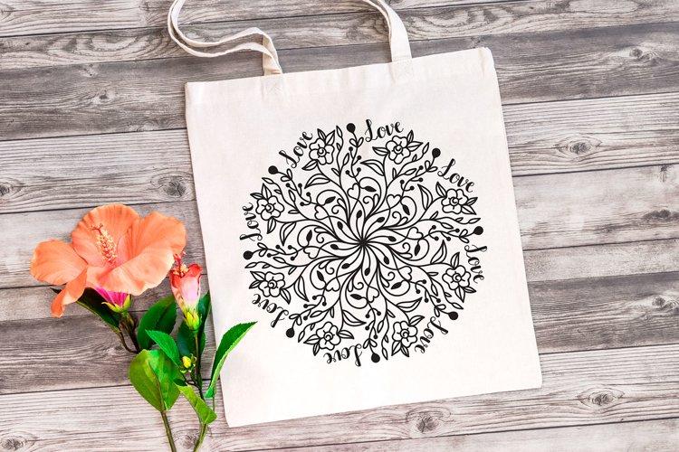 Floral Love Mandala SVG - Floral Mandala example 1