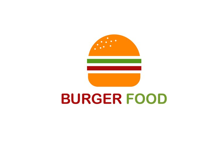 Burger logo for food and drink restaurant fast food junkfood