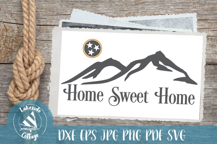 Home Sweet Home Rocky Top TN Tristar SVG Design