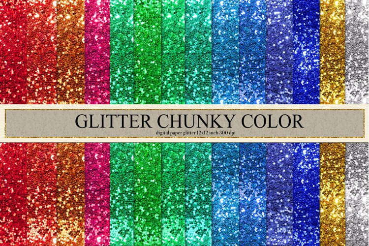 Glitter Chunky Color