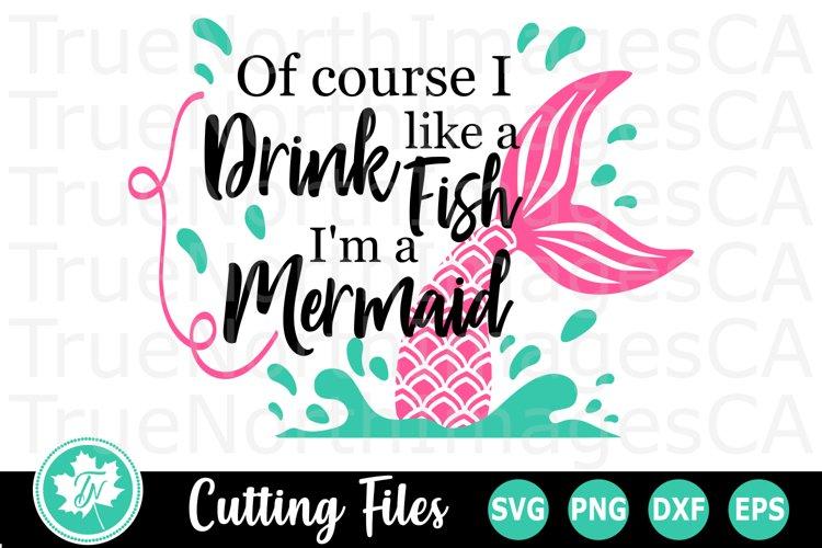 Drink like a Fish - A Wine Tumbler SVG Cut File