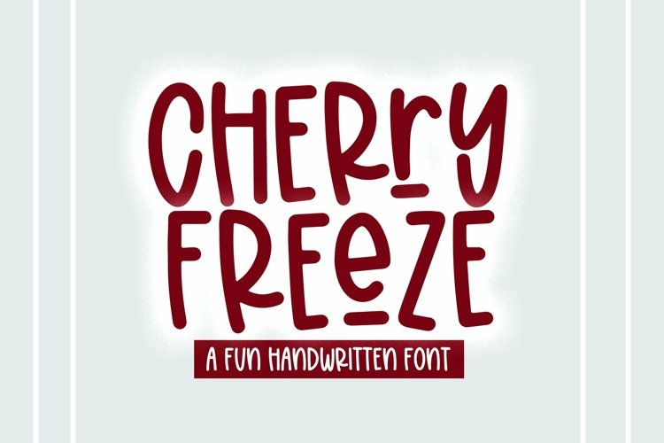 Web Font Cherry Freeze - A Quirky Handwritten Font example image 1