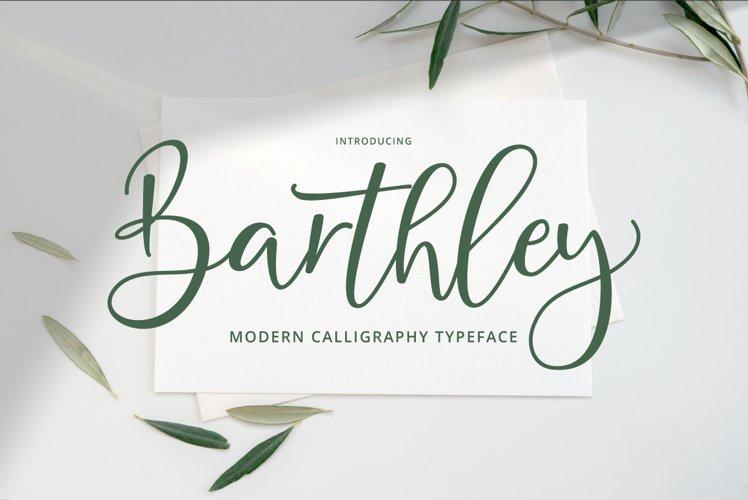 Barthley Script example image 1