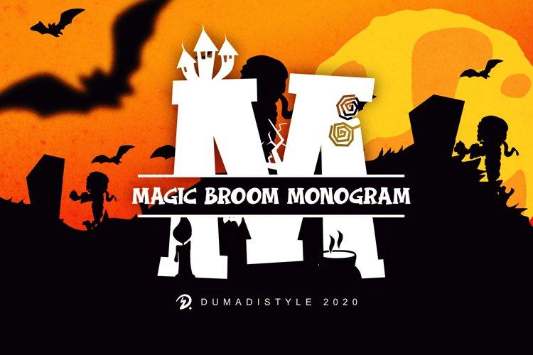 Magic Broom - Monogram example image 1