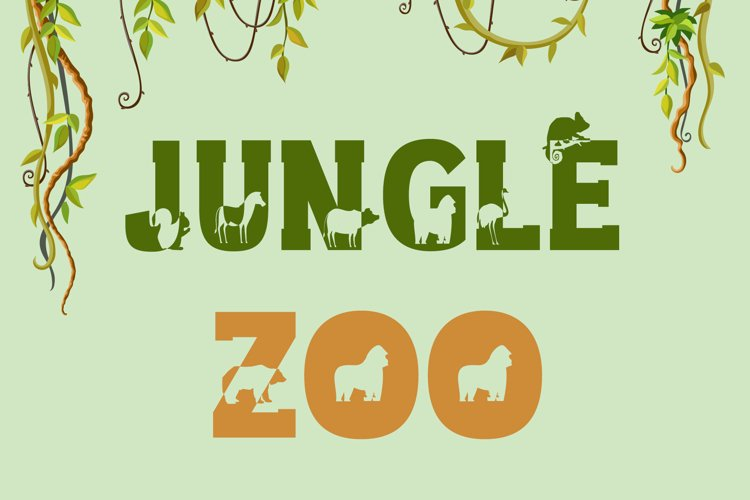 Jungle Zoo - Animal Font