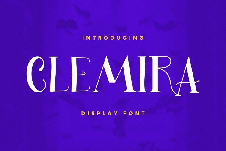 Clemira Font example image 1