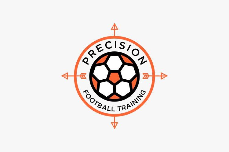 Football logo design premium example image 1