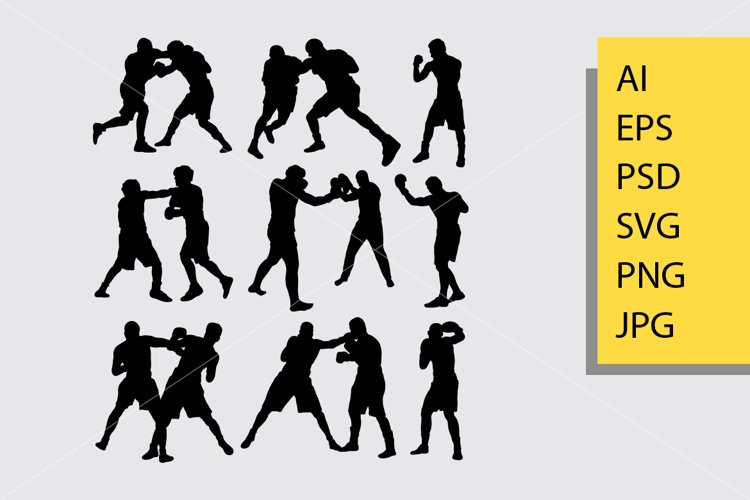 Boxing fight silhouette example image 1