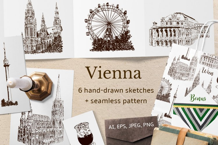 Set of Vienna sketches example image 1