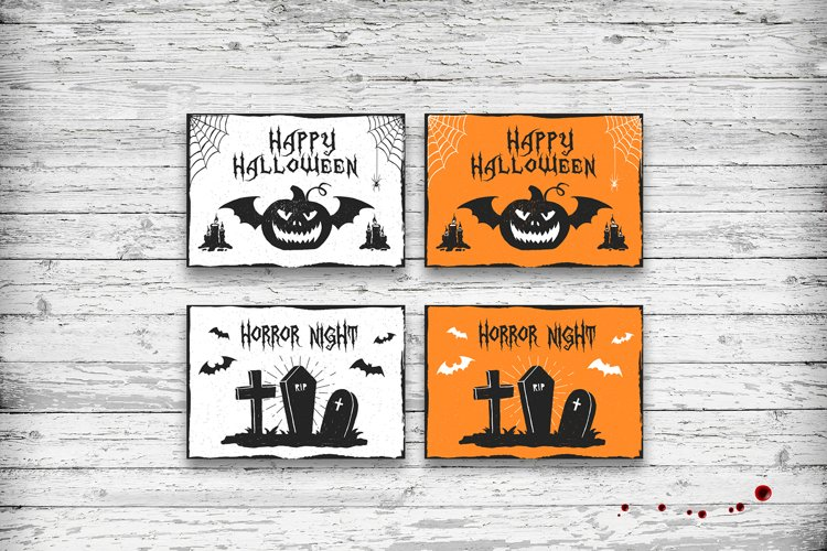 Halloween. 20 Greeting Cards - Free Design of The Week Design7