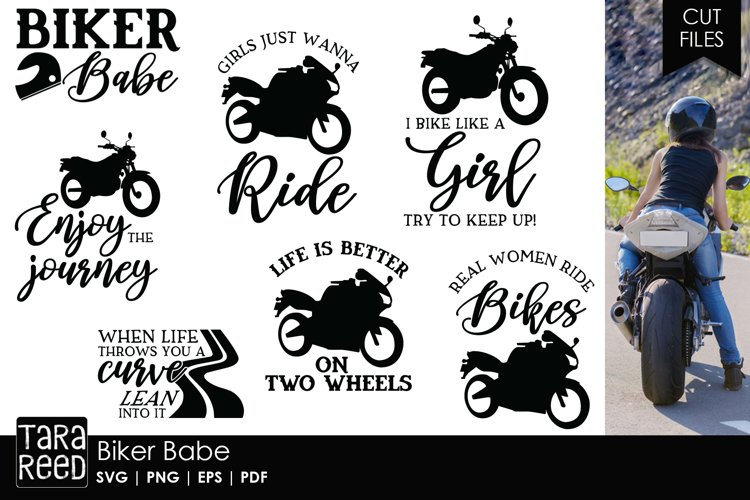 Biker Babe - Motorcycle SVG and Cut Files for Crafters