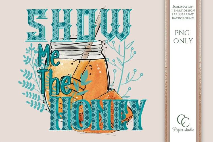 Spring sublimation design - Show me the honey - Blue
