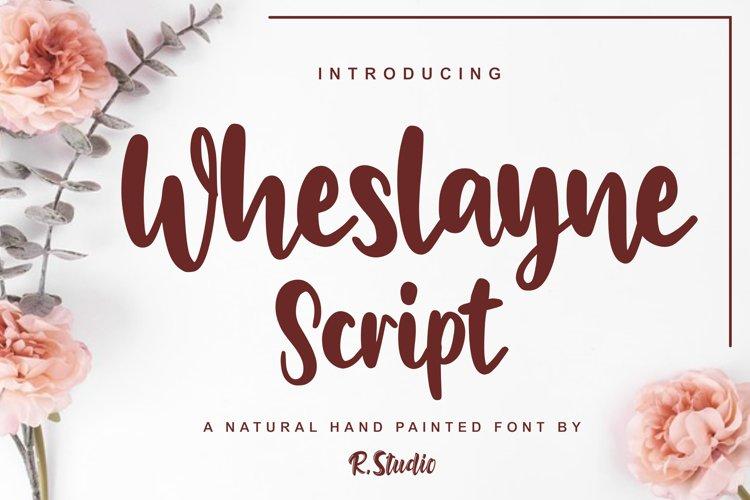 Wheslayne Script example image 1