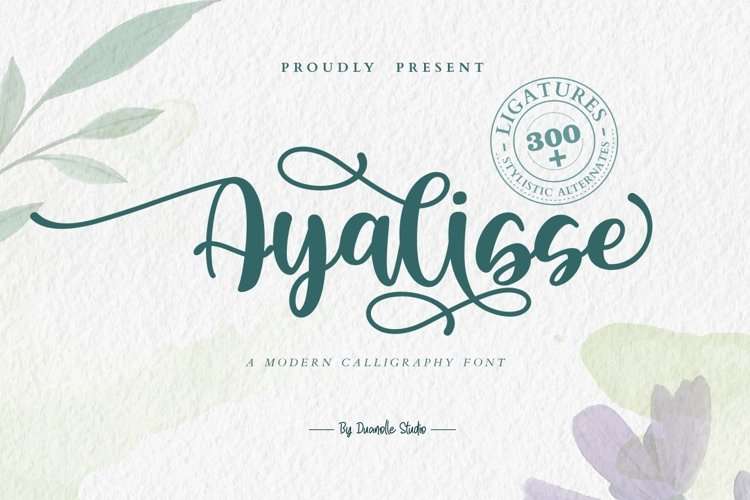 Ayalisse // lovely font