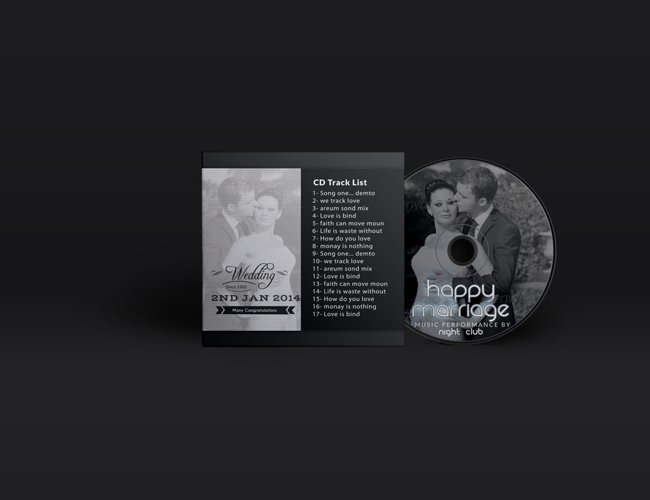 Wedding CD Cover Template example image 1