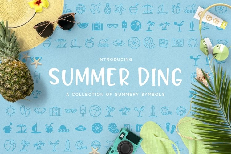Web Font Summer Ding example image 1