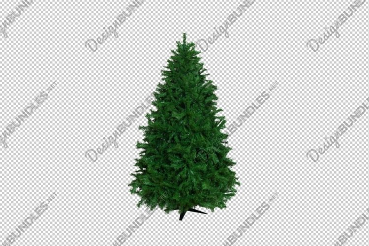 Cut out of bare artificial christmas tree.