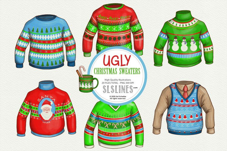 Ugly Christmas Sweaters PNG