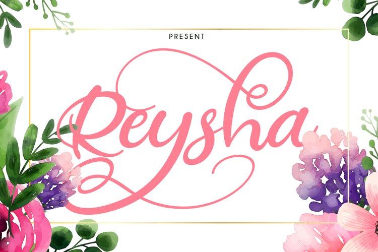 Reysha | Flower Script Font example image 1