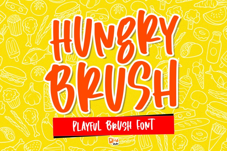 Hungry Brush - Playful Brush Font example image 1