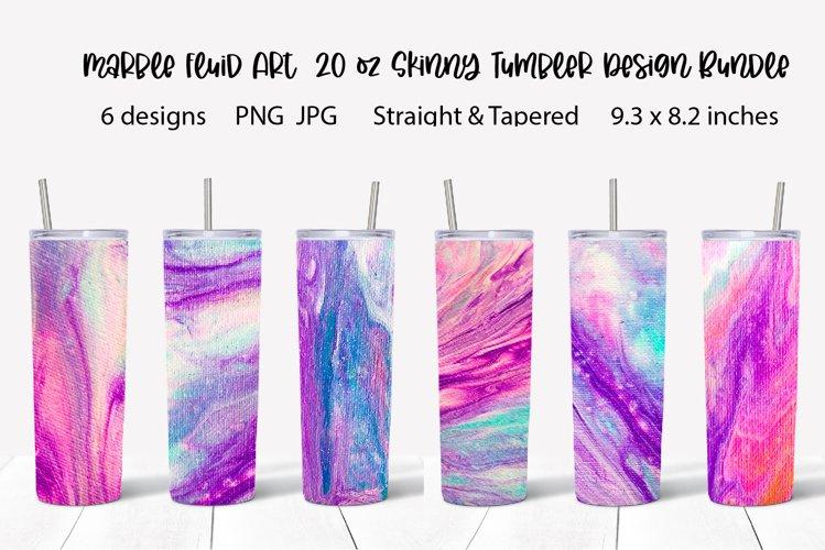 20oz Skinny Tumbler sublimation bundle Marble fluid art