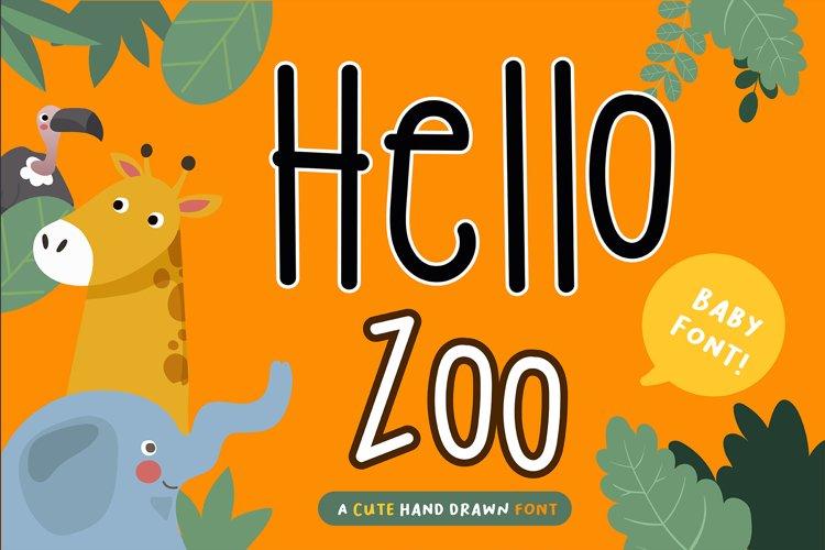 Hello Zoo Handwritten- cute kid font Kawaii style! example image 1