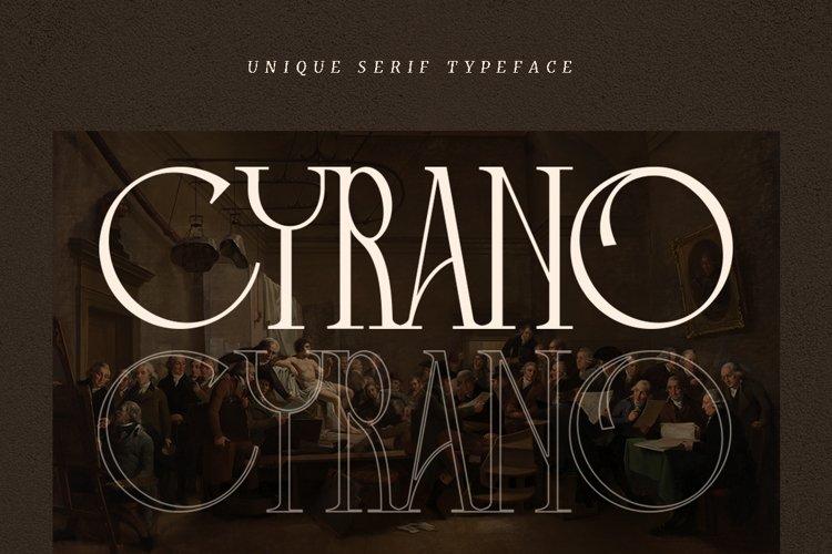 Cyrano - Unique Serif Typeface