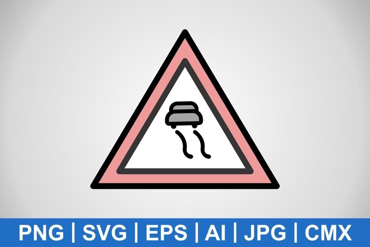 Vector Slippery roads Icon example image 1