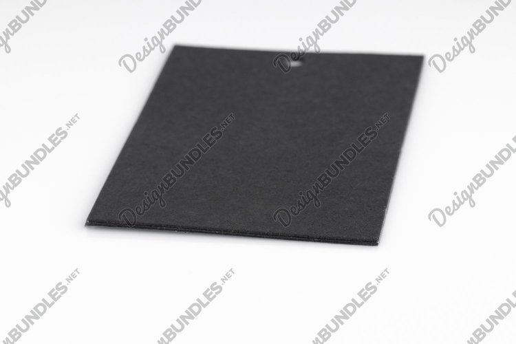 Black price tags isolated on white background example image 1