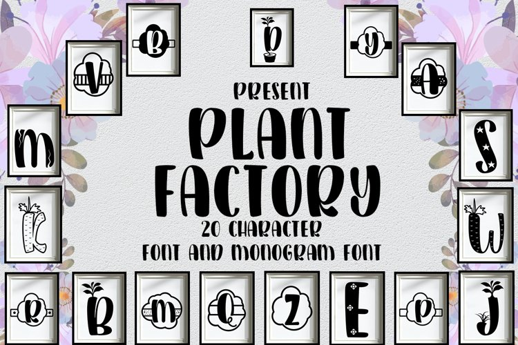 Plant Factory font and monogram example image 1