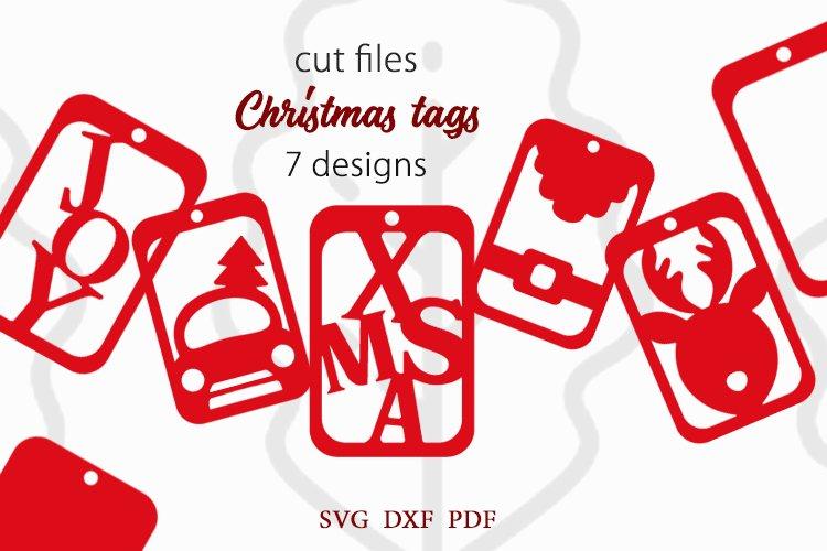 Christmas tags SVG Bundle, Christmas gift tags svg
