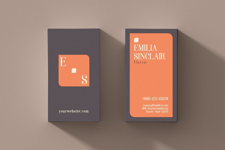 Printable Business Card Template. example image 1