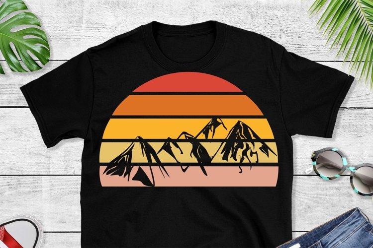 Sunset Mountain SVG File Cricut & Silhouette, Cut Print File example image 1