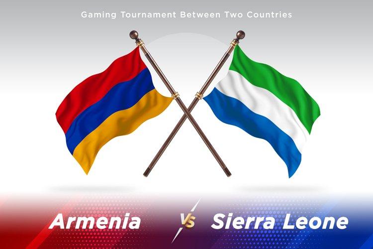 Armenia versus Sierra Leone Two Flags example image 1