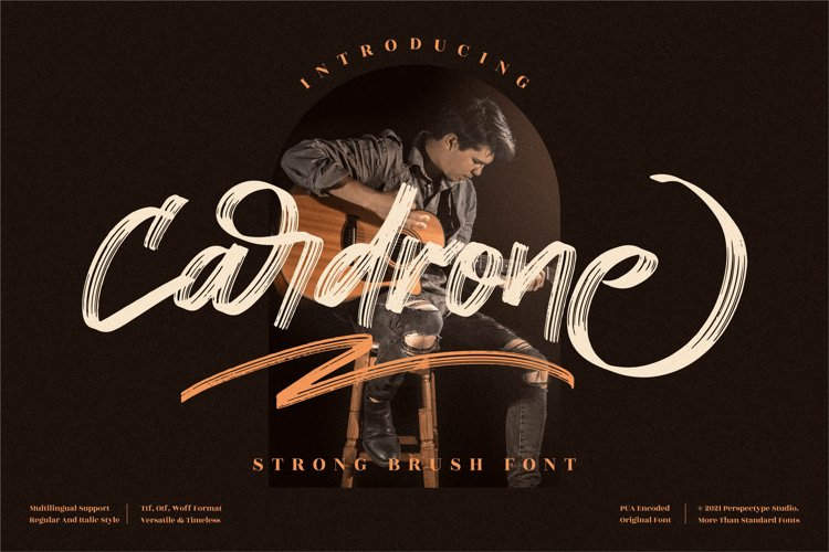 Cardrone - Strong Brush Font example image 1
