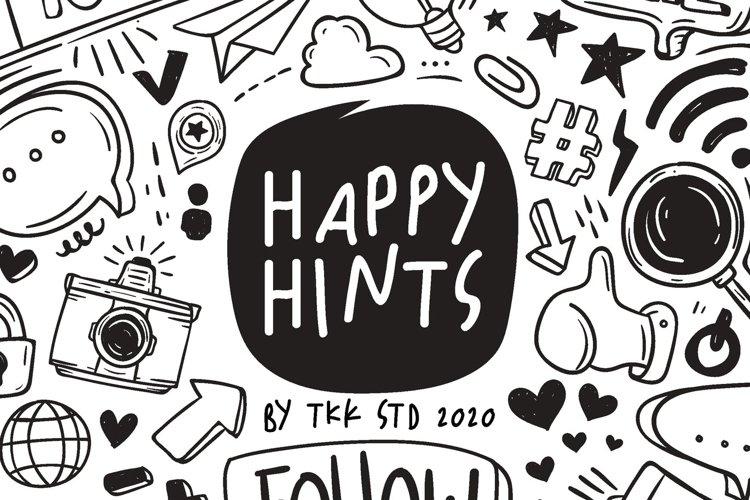Happy Hints - Kids Doodle Handwriting Font example image 1