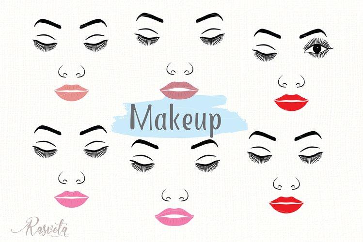 Make up svg Female Face Makeup Eyelashes Eyes Lips /8 example image 1