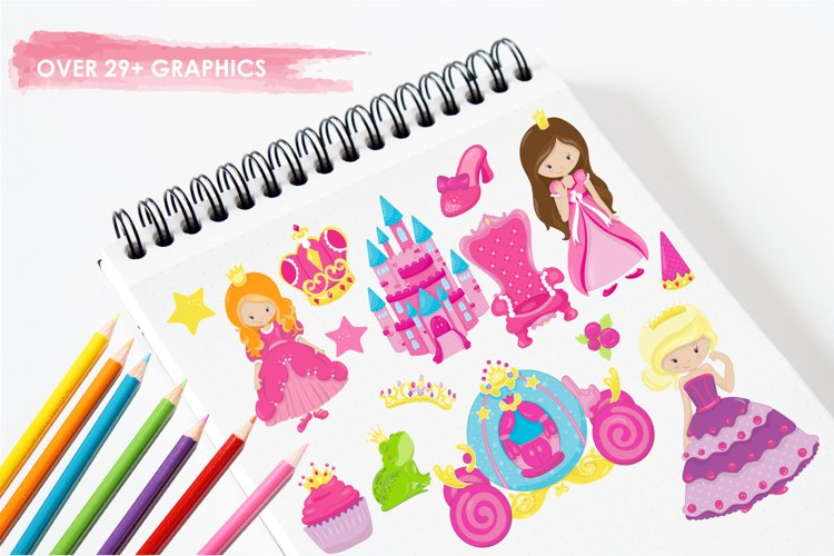 Fairytale Princess  graphics and illustrations - Free Design of The Week Design1