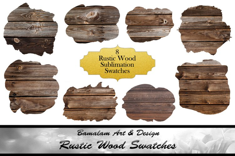Rustic Wood Sublimation Swatches