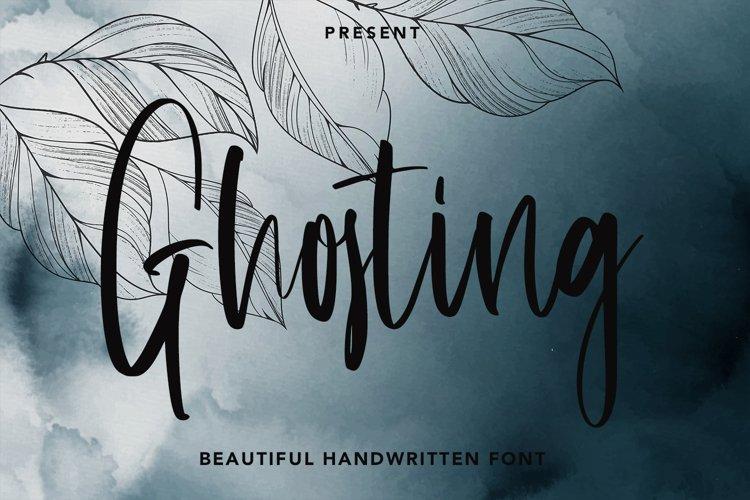 Ghosting - Beautiful Handwritten Font example image 1