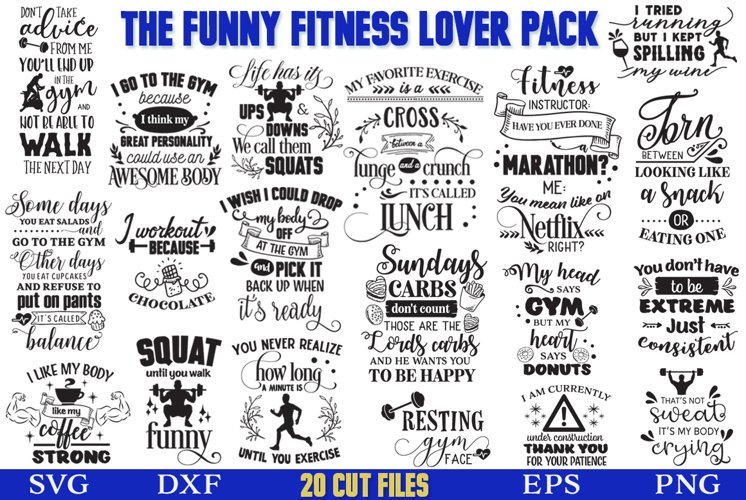 The Funny Fitness Lover SVG Pack