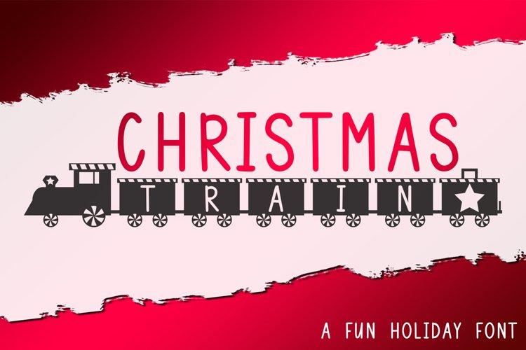 Christmas Train - A Fun Holiday Font example image 1