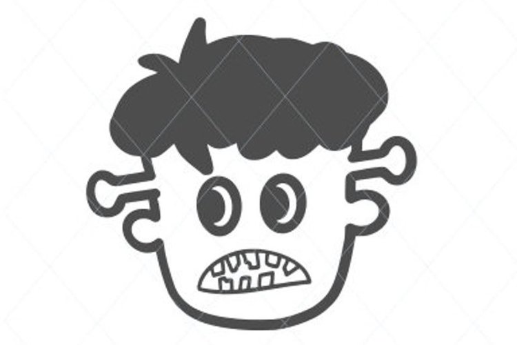 Frankenstein svg, scared Frankenstein, Frankenstein cut file example image 1