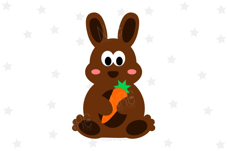 Easter Bunny Carrot SVG File