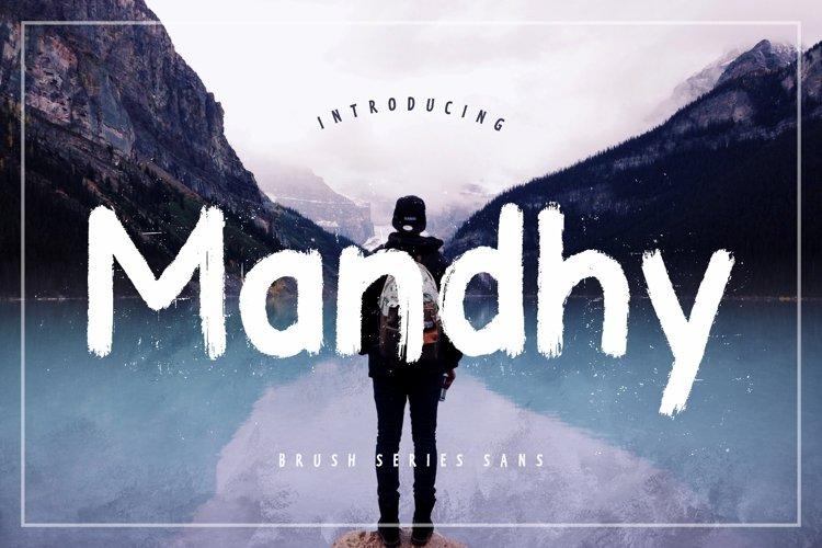 Mandhy Brush Series Sans example image 1