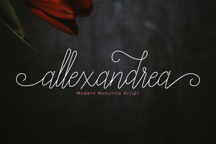 Allexandrea Script example image 1
