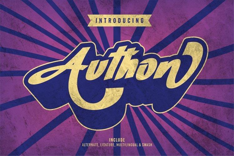 Authon - Retro Bold Font example image 1