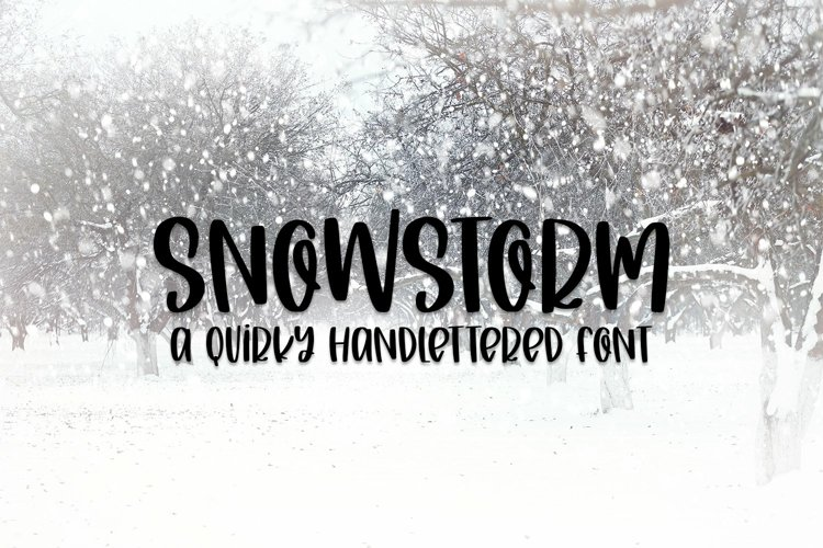 Web Font Snowstorm - A Quirky Hand-Lettered Font example image 1