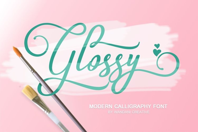 Glossy Font example image 1